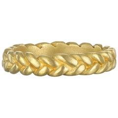 Faye Kim 18 Karat Gold Thin Braided Stack Ring