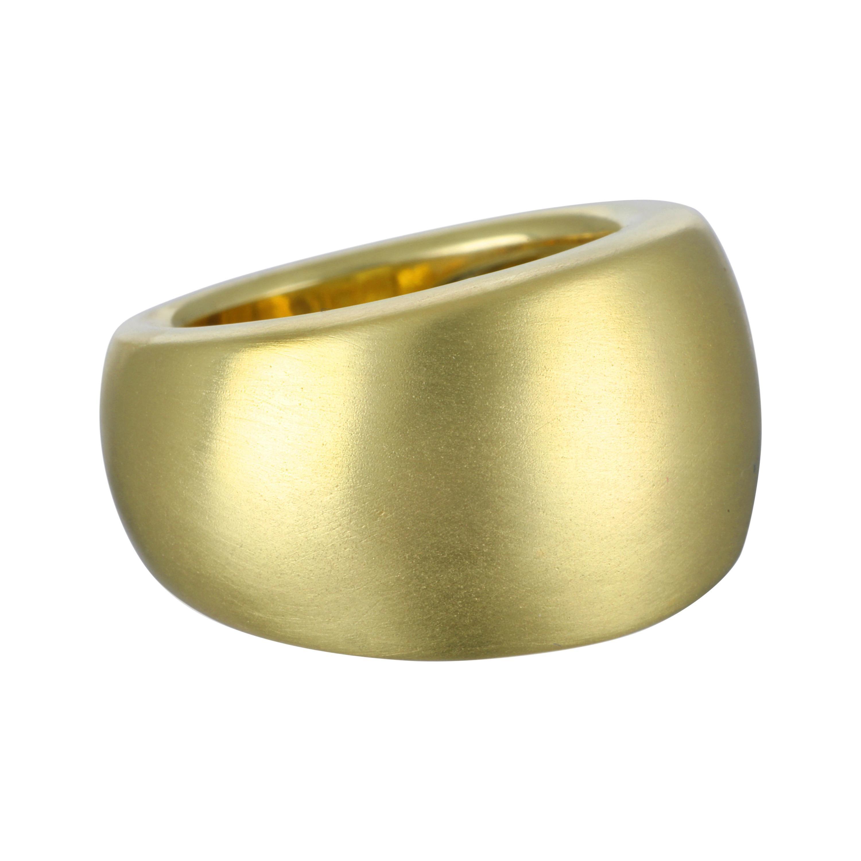 Faye Kim 18 Karat Gold Wide Band Ring