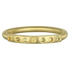 Faye Kim 18 Karat Gold Gelber Saphir Ring