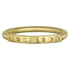 Faye Kim 18 Karat Gold Yellow Sapphire Bar Stack Ring