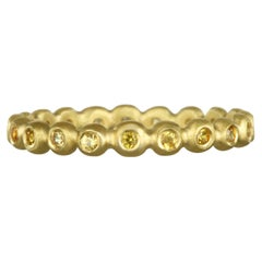 Faye Kim 18 Karat Gold Yellow Sapphire Eternity Band Ring