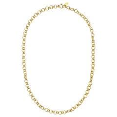 Faye Kim 18 Karat Gold Handmade Rolo Chain