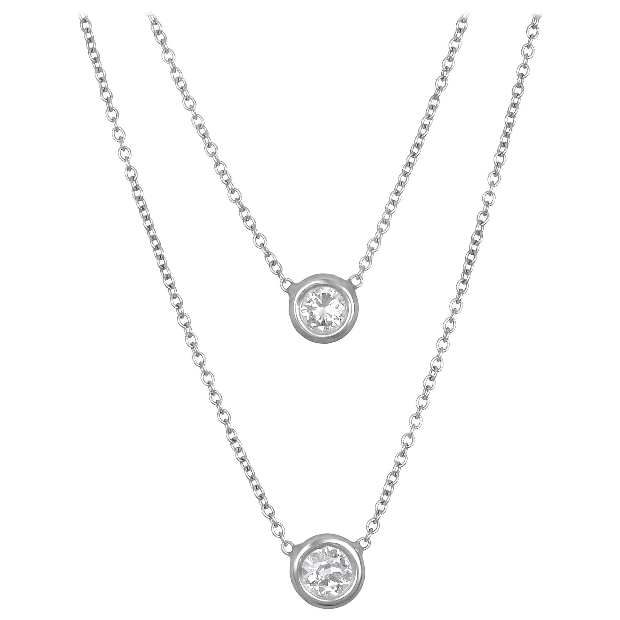 Faye Kim 18 Karat White Gold Diamond Necklace