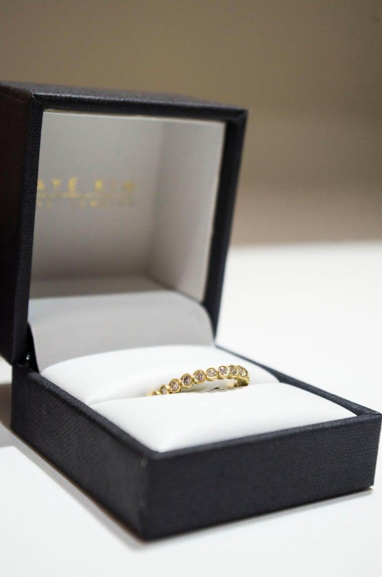 Contemporary Faye Kim 18 Karat Gold Diamond Eternity Band Ring For Sale