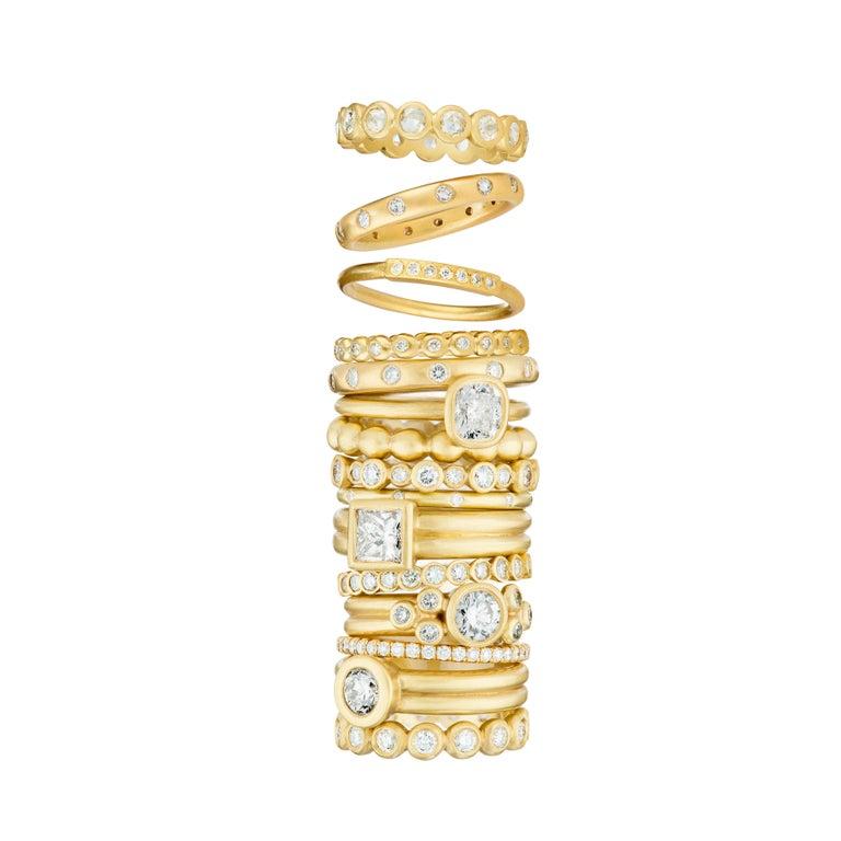 Women's Faye Kim 18 Karat Gold Diamond Eternity Band Ring For Sale