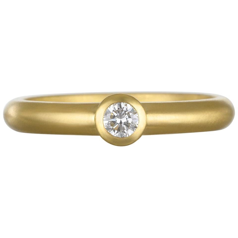 Faye Kim 18 Karat Gold Diamond Stack Ring