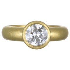 Faye Kim 18 Karat Gold GIA Certified 1.65 Carat Diamond Engagement Ring