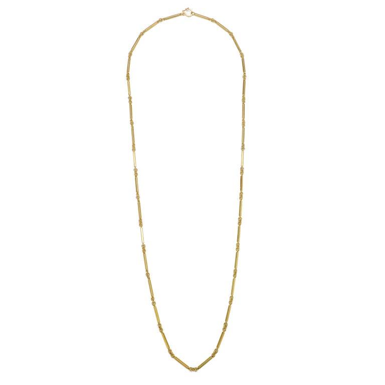Contemporary Faye Kim 18 Karat Gold Handmade Fob Chain For Sale