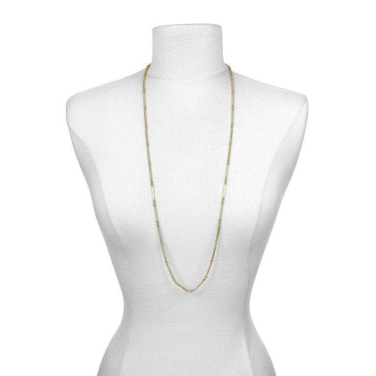 Women's or Men's Faye Kim 18 Karat Gold Handmade Fob Chain For Sale