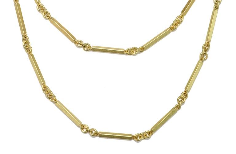 Faye Kim 18 Karat Gold Handmade Fob Chain For Sale 1
