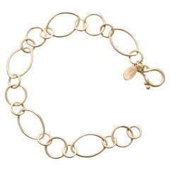 Faye Kim 18 Karat Gold Marquise Link Bracelet