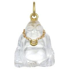 Faye Kim Crystal Diamond Buddha Pendant