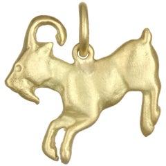 Faye Kim Gold Goat Charm