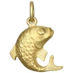 Faye Kim 18K Gold Koi Fish Charm Necklace