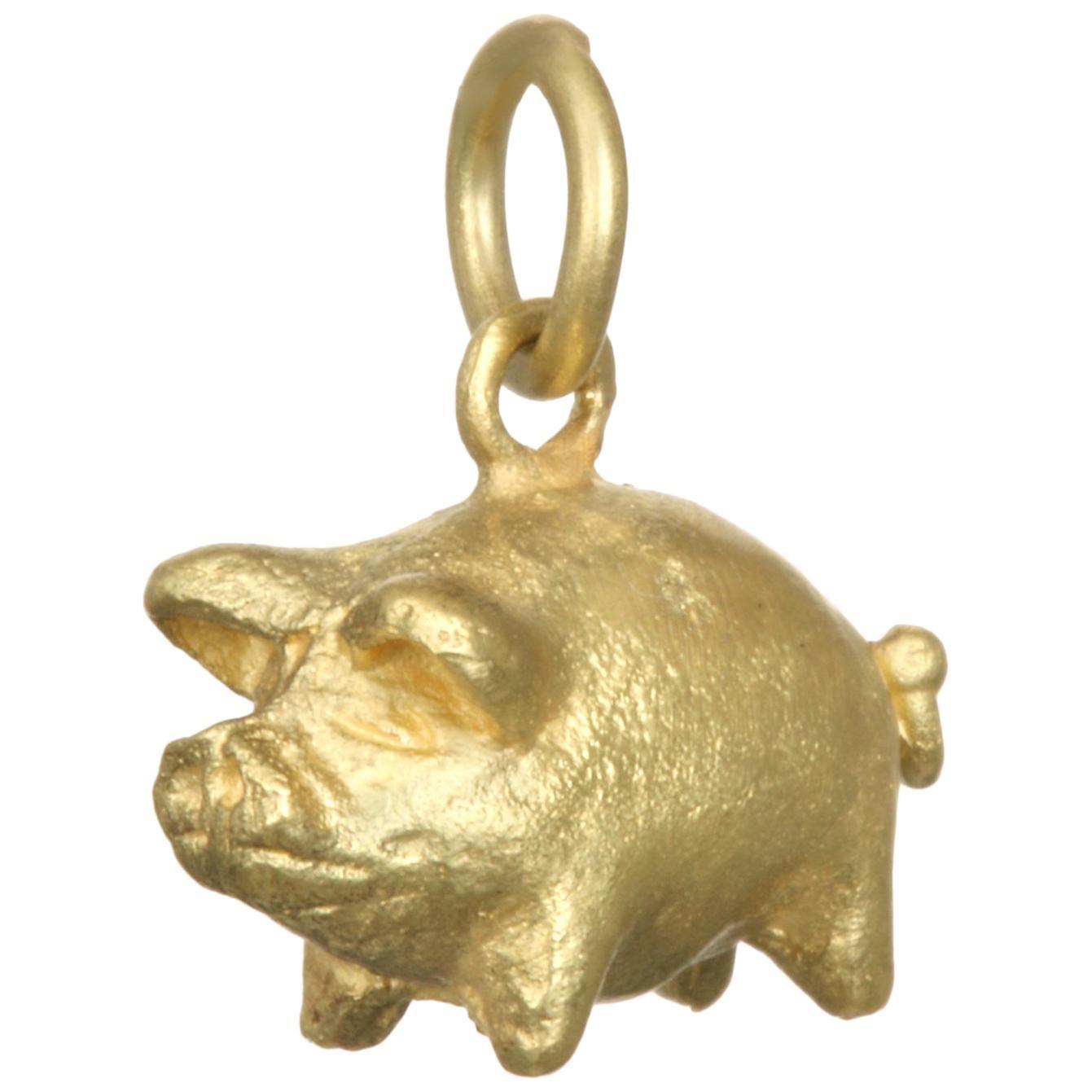 Faye Kim 18K Gold Pig Charm Necklace