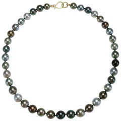 Faye Kim 18k Gold Black Tahitian Cultured Pearl Necklace