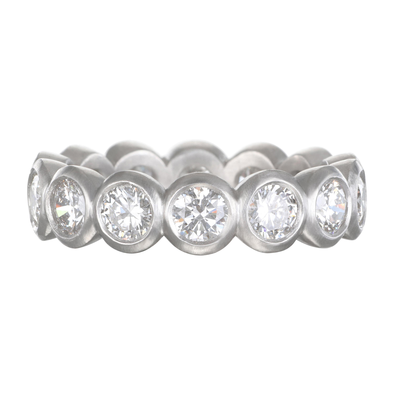Faye Kim Platinum Diamond Bezel Eternity Ring