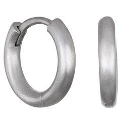 Faye Kim Platinum Huggy Hoop Earrings