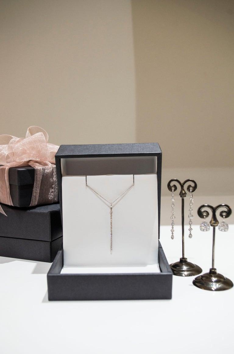 Faye Kim Platinum Micro-Pave Diamond Chiclet Earrings For Sale 1