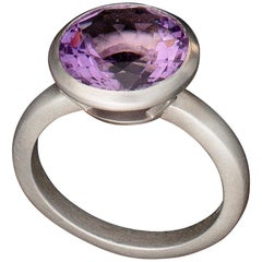 Faye Kim Platinum Purple Scapolite Cocktail Ring