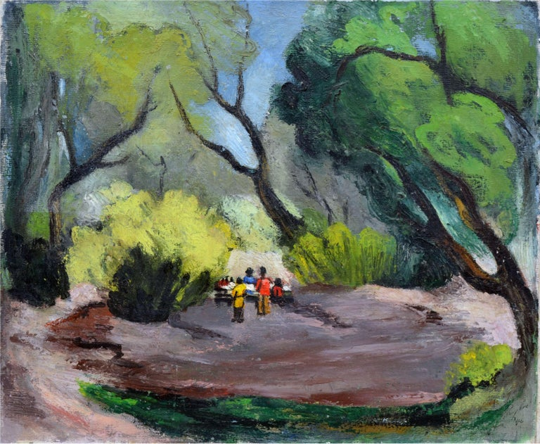 Faye Morgan Taylor - Picnic in the Park, Painting For Sale ...
