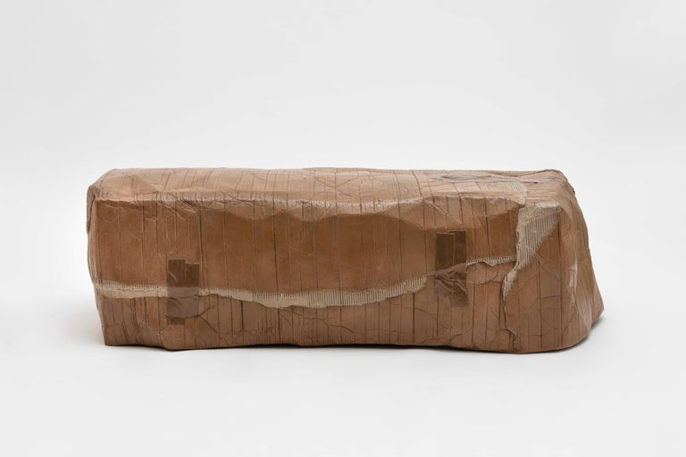 Faye Toogood [British, b. 1977] Maquette 031 / Box bench, 2020 Cast bronze, acrylic paint Measures: 18.5 x 59 x 22.75 inches 47 x 150 x 58 cm  Faye Toogood was born in the UK in 1977 and graduated with a BA in the History of Art in 1998 from Bristol