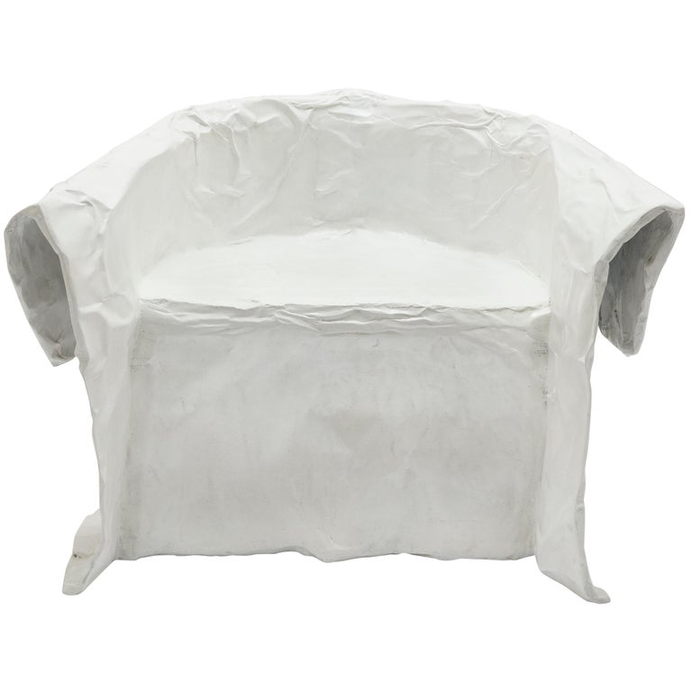 "Faye Toogood, ""Maquette 208 / Paper Chair"", Armchair, Cast Aluminum, Paint, 2020 For Sale"