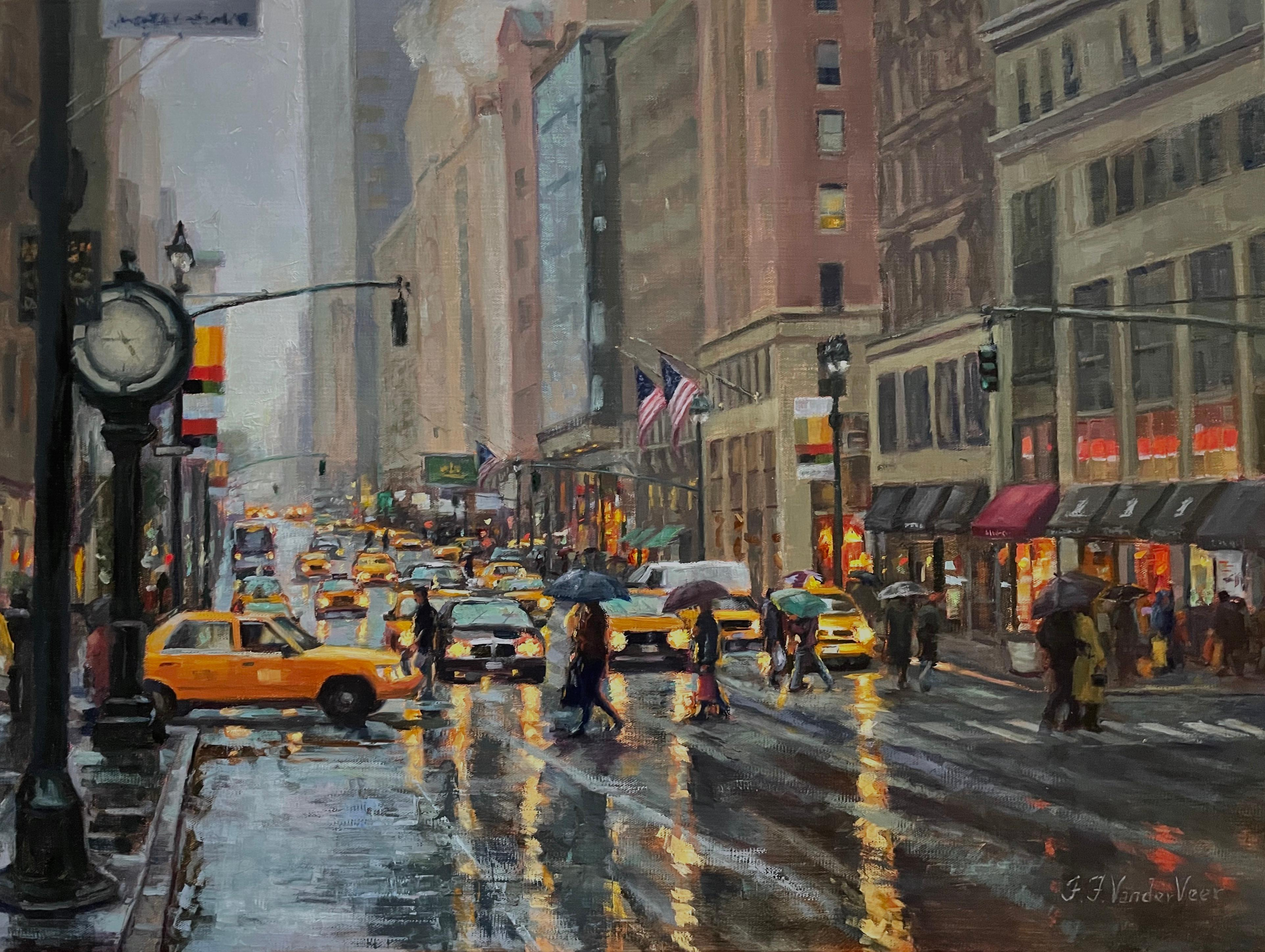 Reflections of New York, Oil Painting