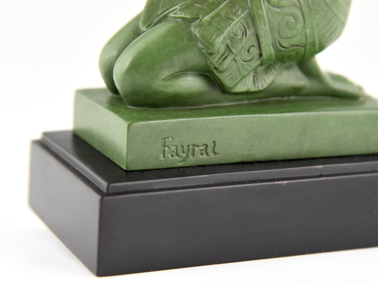 Fayral Pierre Le Faguays Art Deco Bookends with Kneeling Nudes, 1930 For Sale 4