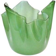 """""""Fazzoletto"""" by Fulvio Bianconi for Venini 1950s Murano Glass Vase"""