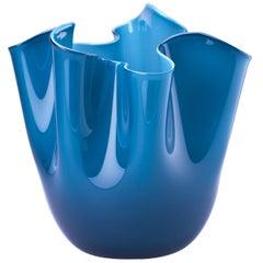 Fazzoletto Glass Vase in Horizon & Aquamarine by Fulvio Bianconi & Paolo Venini