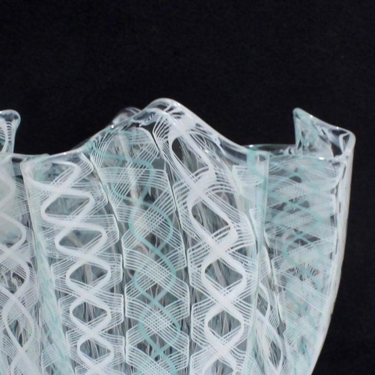 Fazzoletto Handkerchief Vase by Fulvio Bianconi & Paolo Venini for Venini Glass For Sale 4