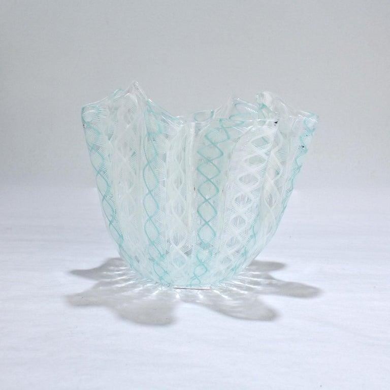 Italian Fazzoletto Handkerchief Vase by Fulvio Bianconi & Paolo Venini for Venini Glass For Sale
