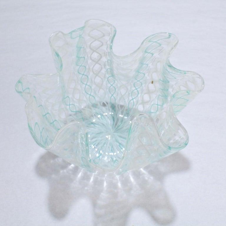 Fazzoletto Handkerchief Vase by Fulvio Bianconi & Paolo Venini for Venini Glass In Good Condition For Sale In Philadelphia, PA