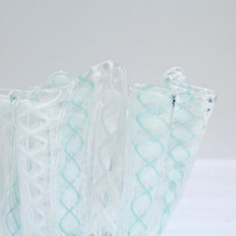 Murano Glass Fazzoletto Handkerchief Vase by Fulvio Bianconi & Paolo Venini for Venini Glass For Sale