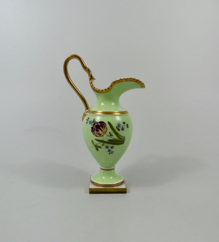 Regency FBB Worcester Porcelain Miniature Ewer, circa 1810 For Sale
