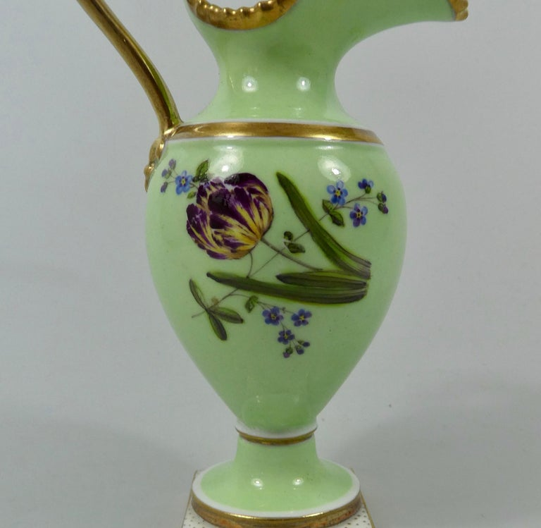 English FBB Worcester Porcelain Miniature Ewer, circa 1810 For Sale