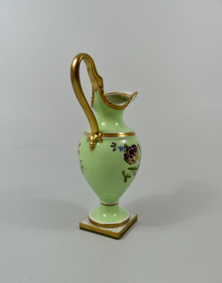 Fired FBB Worcester Porcelain Miniature Ewer, circa 1810 For Sale
