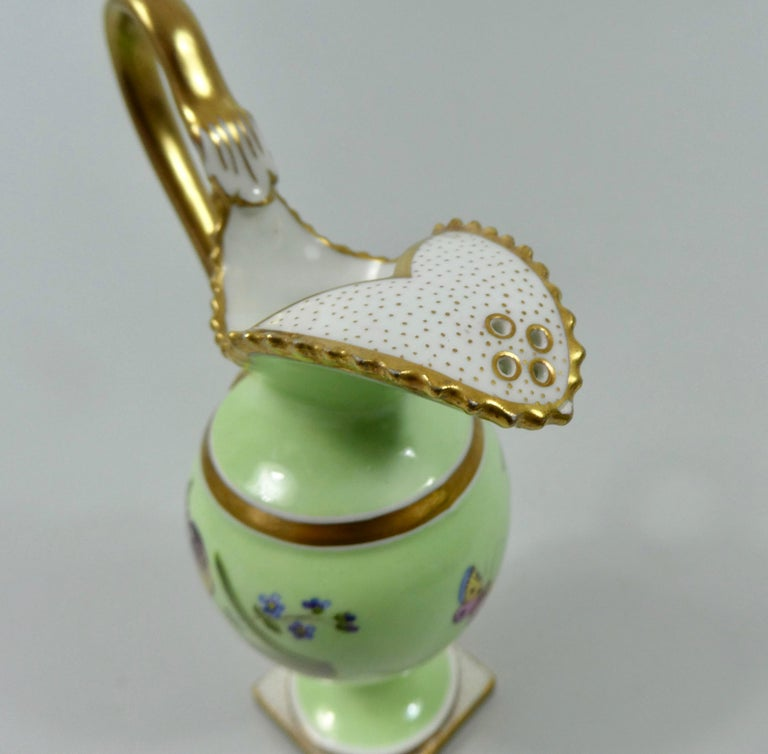 Early 19th Century FBB Worcester Porcelain Miniature Ewer, circa 1810 For Sale