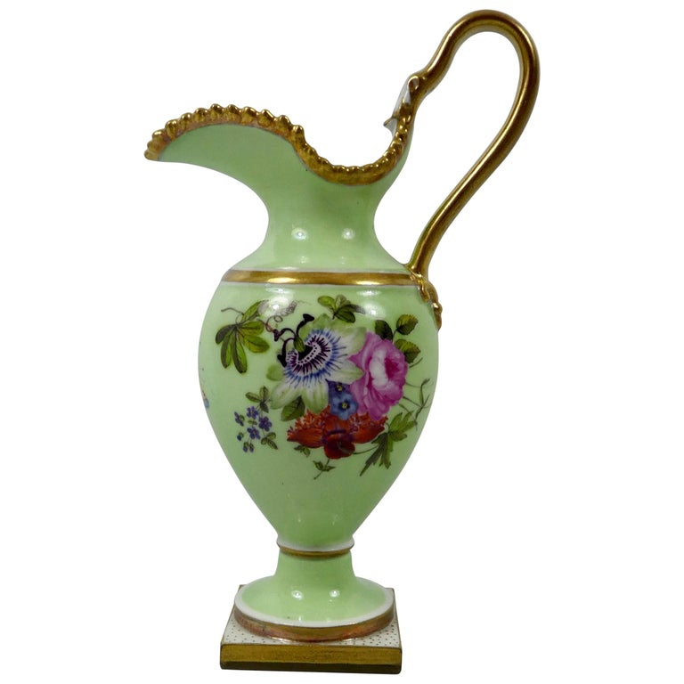 FBB Worcester Porcelain Miniature Ewer, circa 1810 For Sale