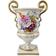 FBB Worcester Porcelain Vase, circa 1810