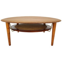 FD 515 Round Sofa Table by Peter Hvidt & Orla Mølgaard Nielsen for France & Son