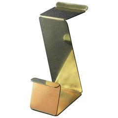Fe Bar Height Zig-Zag Stool in Brass by Mtharu