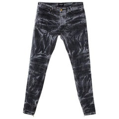 Fear Of God Black Holy Water Denim Slim Fit Selvedge Jeans M