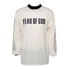 Fear of God Fifth Collection Cream Motocross Mesh Long Sleeve T Shirt S
