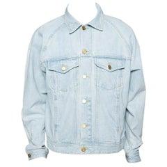 Fear Of God Fifth Collection Light Blue Denim Trucker Jacket M