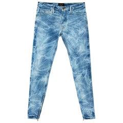 Fear Of God Indigo Acid Washed Denim Slim Fit Selvedge Jeans M