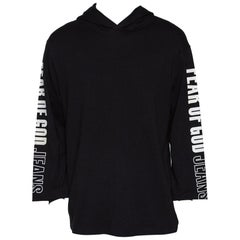 Fear Of God Jeans Fifth Collection Black Knit Hoodie M