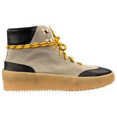 FEAR OF GOD Sixth Collection Size 11 Taupe & Black Color Block Leather Sneakers