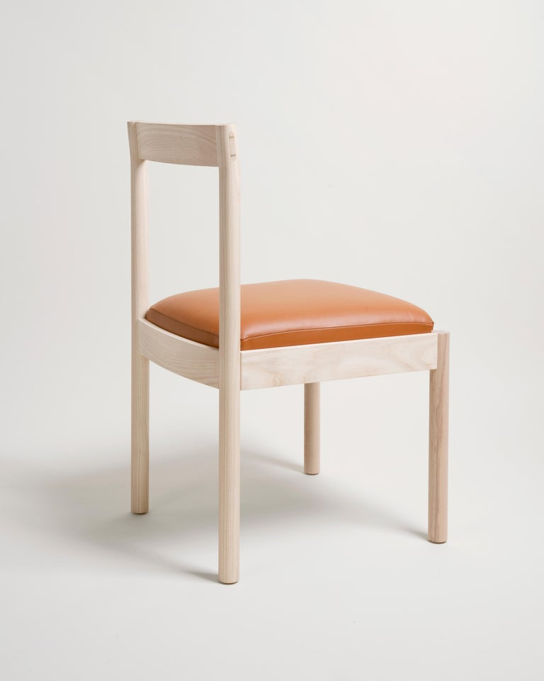 Feast Dining Chair in Solid Ash and Brass by Bowen Liu In New Condition For Sale In Brooklyn, NY